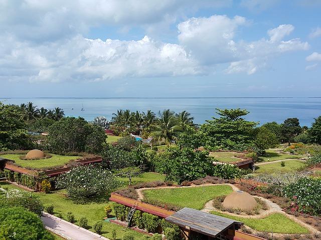zahrada na Zanzibaru