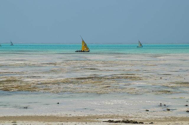 lodičky na Zanzibaru