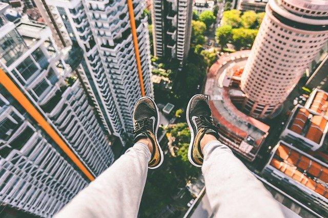 pohled z mrakodrapu