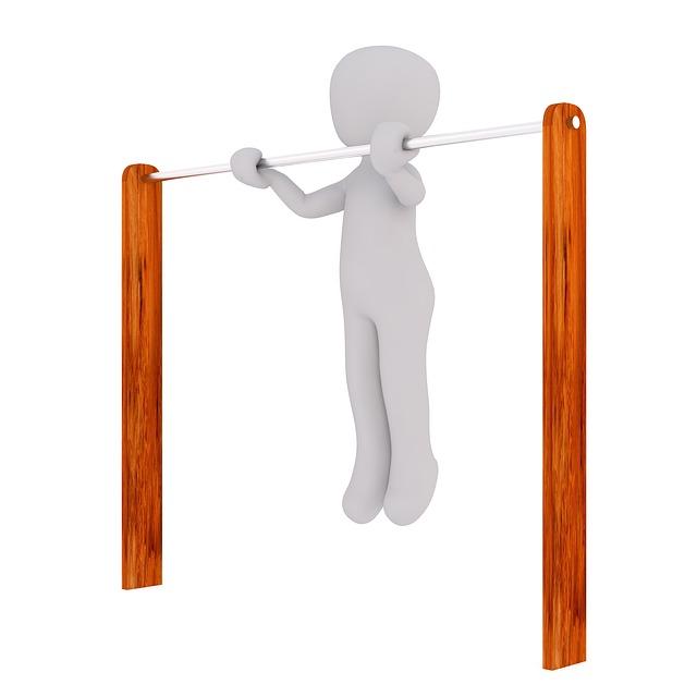 cvičení na hrazdě